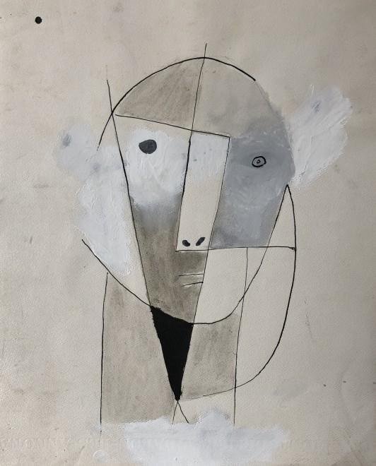 Carlos Carnero, Visage cubiste, c. 1955