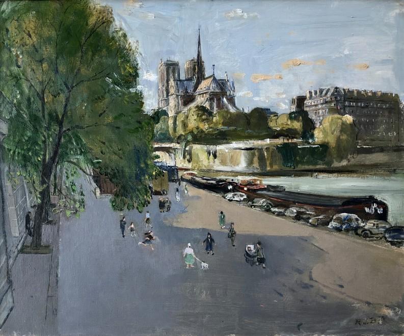 Rodney Burn, Notre Dame, Paris