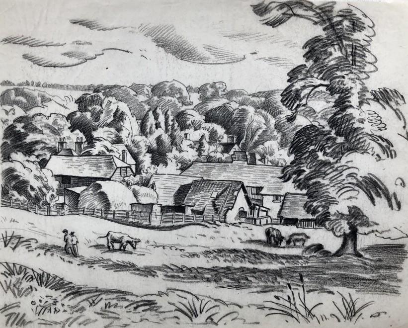 Ethelbert White, A Sussex Farm, c. 1930
