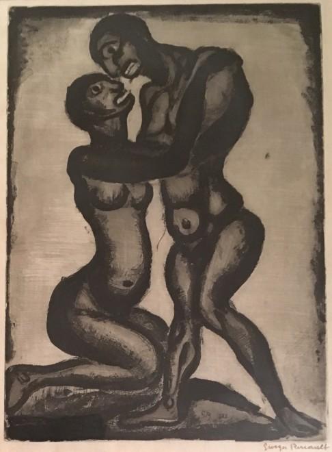 Georges Rouault, Les Amants from Les Reincarnations du Pére Ubu, 1928