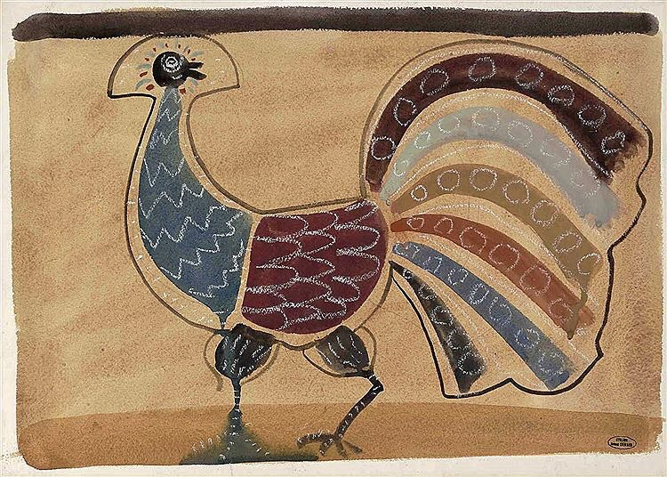 André Derain, L'Oiseau (Paon), c. 1930