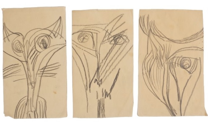 ROBERT COLQUHOUN (1914-1962)  FOX HEAD STUDIES  SOLD