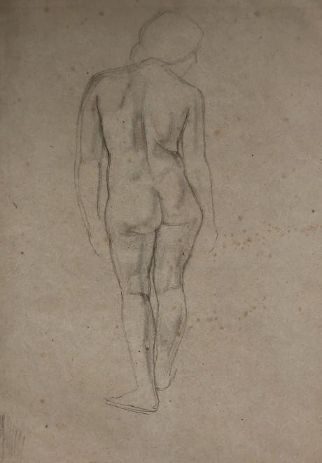 Percy Horton, Standing Female Nude, c. 1920s