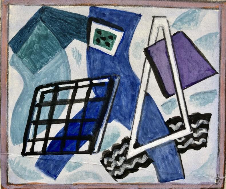 Doris Hatt, Study for 'Blue Abstract', 1960s