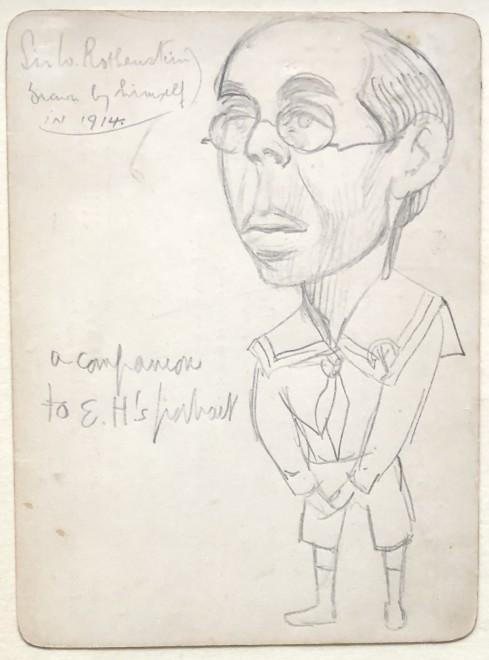 WILLIAM ROTHENSTEIN , SELF PORTRAIT, 1914