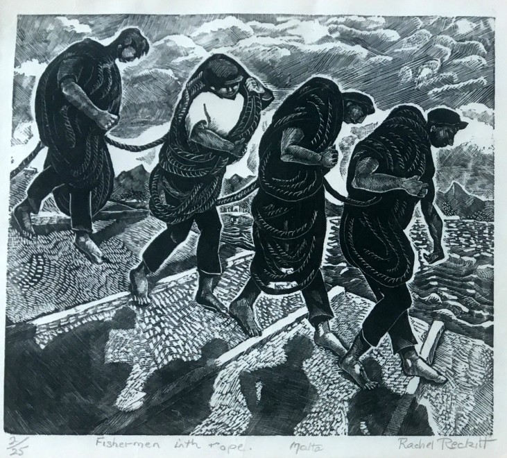 Rachel Reckitt, Fishermen with Rope