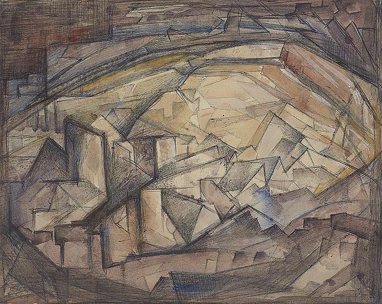 Elsie Henderson, Cubist Landscape, c. 1935