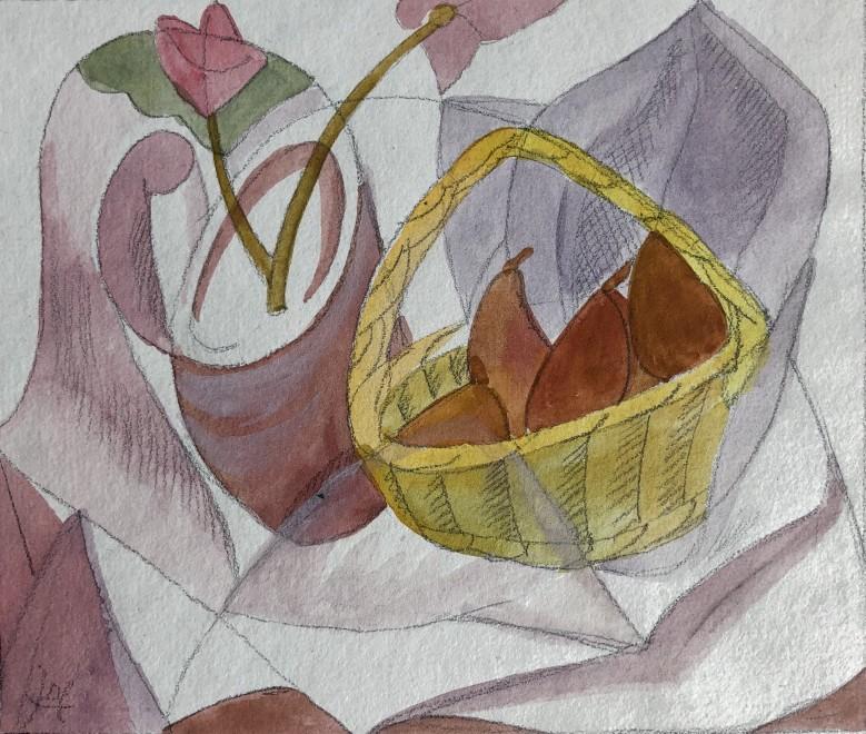 Doris Hatt, Still Life with Fruit Basket, 1950's