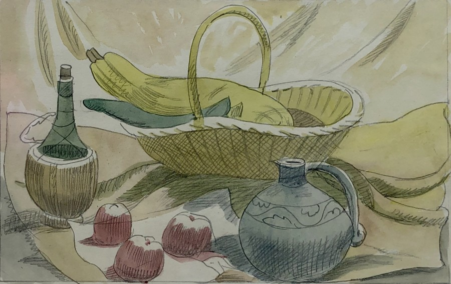 Doris Hatt, Still Life with Bottle, Jug and Apples, c. 1940s