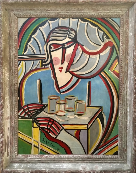 Hugo Scheiber (1873-1950)  Woman in a Café , c. 1925