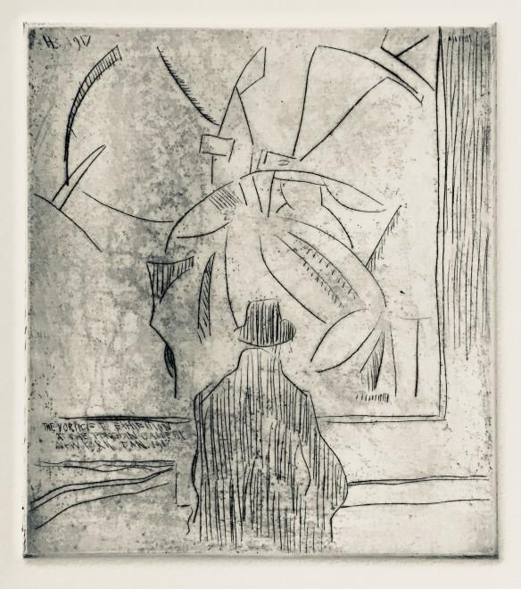 Horace Brodzky, Viewing Wyndham Lewis's Kermesse, 1917