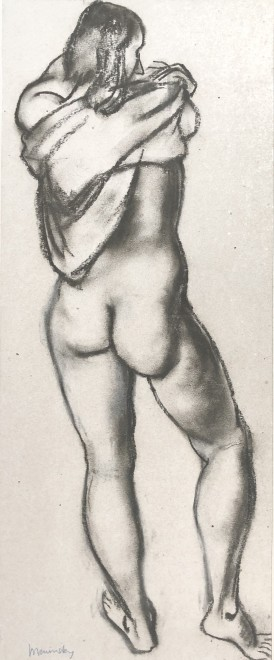 Bernard Meninsky, Standing Female Nude, 1928