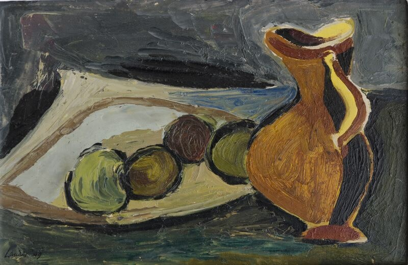 Kenneth Lauder, Apples and Jug, 1949