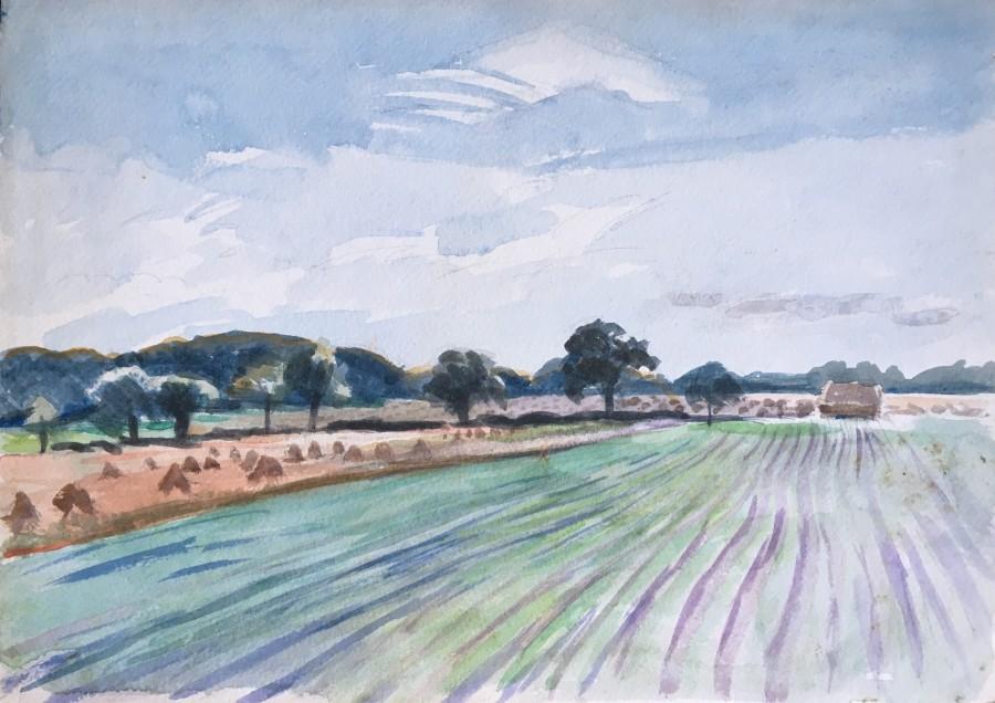Rupert Lee, Ploughed Field, Sussex, c. 1930