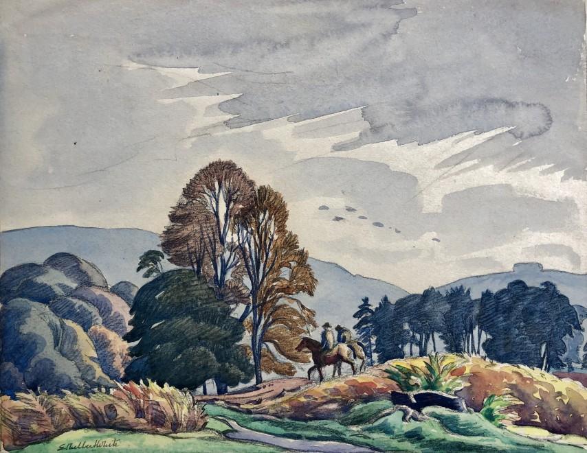 Ethelbert White, Riding on the Quantocks, c. 1930