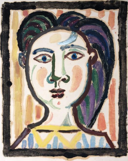 Carlos Carnero, Buste de femme (jaune), c. 1950