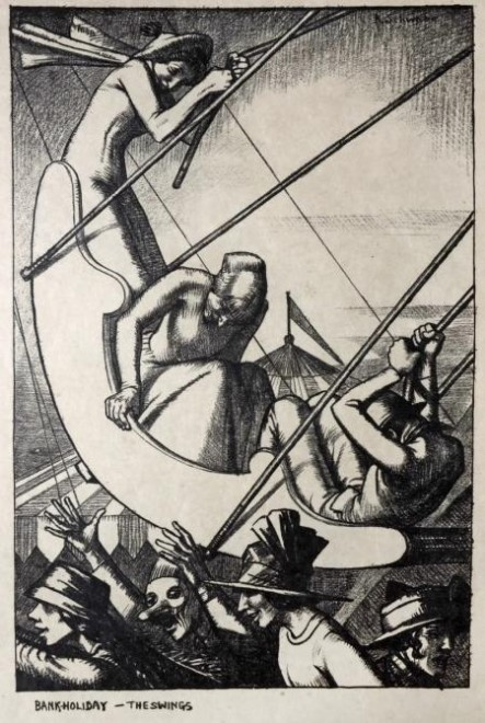 Randolph Schwabe, Bank Holiday: The Swings, 1915