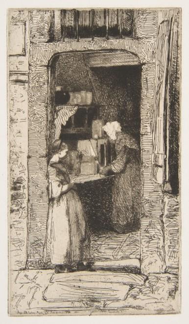 James Abbott McNeill Whistler , La Marchande de moutarde, 1858