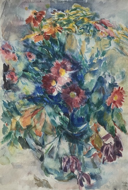Kurt Badt, Still Life with Flowers, 1942