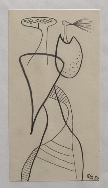 Desmond Morris, Surrealist composition, 1950