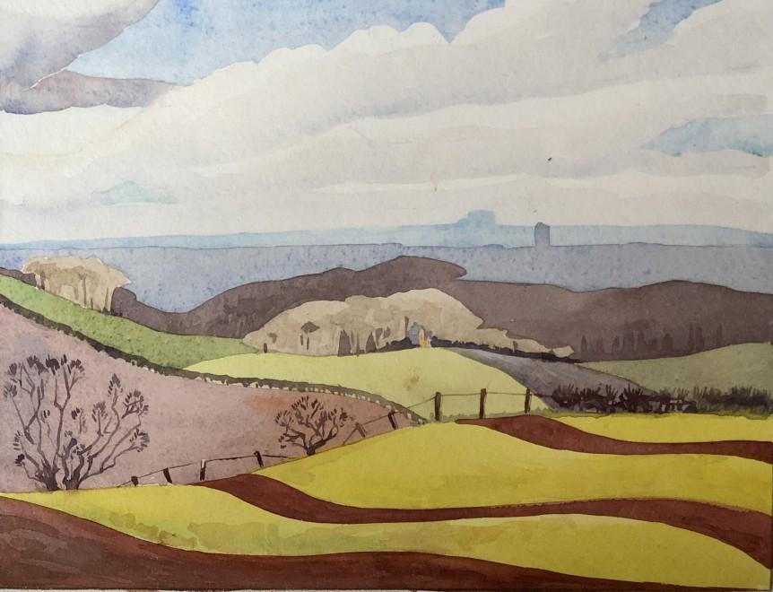 Rowland Hill, Summer Landscape, 1939