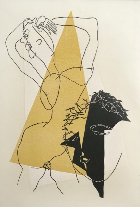 Henri Laurens, Composition I (from Loukios ou l'ane by Lucien de Samosate), 1947