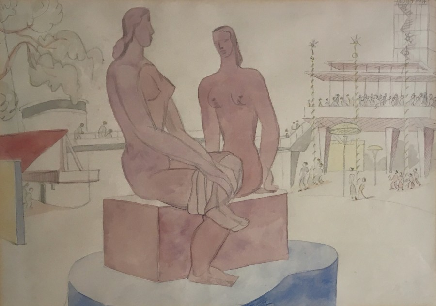 Festival of Britain Study (Frank Dobson Sculpture), 1951