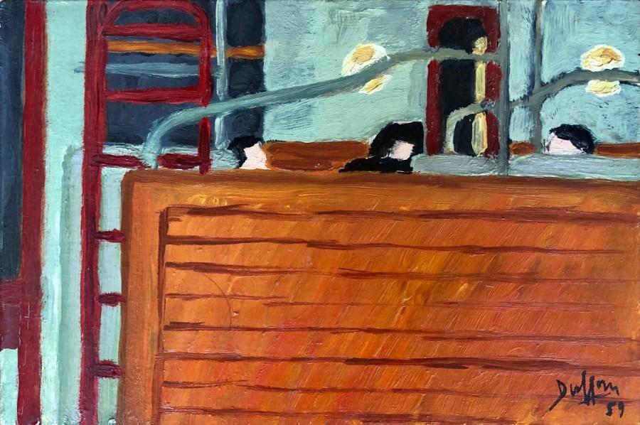 Jacques André Duffour, Metro banquette, 1959  6.25 x 9.5 inches