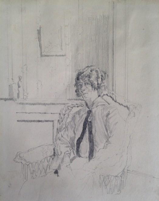 Walter Sickert, Interior with Nurse, c. 1915