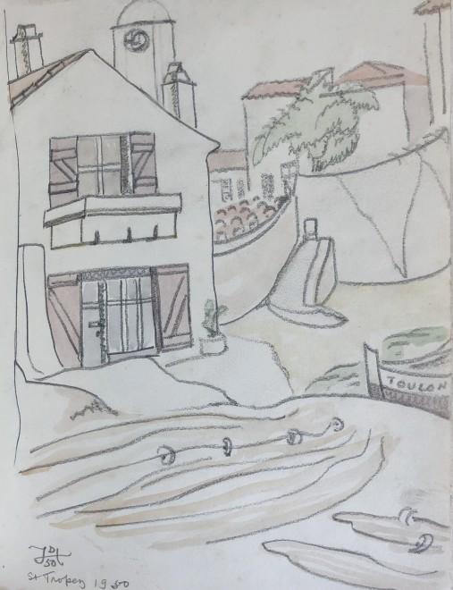 Doris Hatt, Harbourside, St. Tropez, 1950