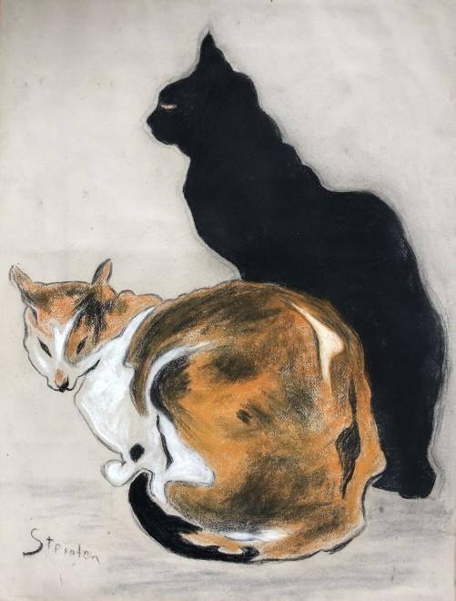 Théophile Alexandre Steinlen, Two Cats, 1894
