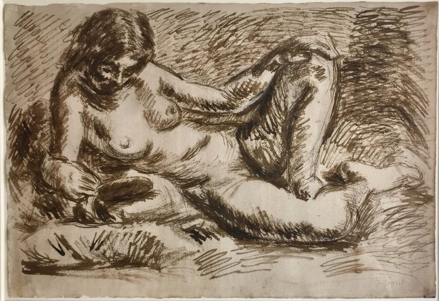 Duncan Grant, Reclining Nude, c, 1930