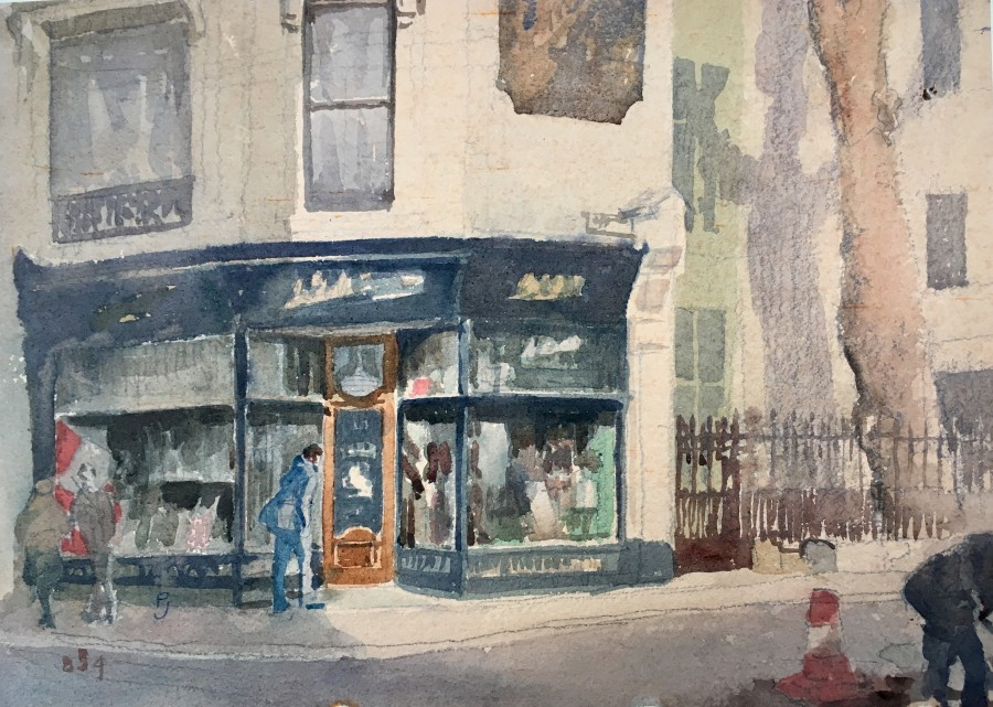 Percy Hague Jowett, The Old Curiosity Shop, Clerkenwell, 1920's  9.5 x 13 inches
