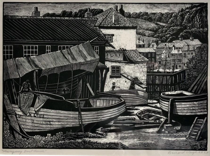 Bernard Sleigh, Mevagissey Boat House, 1936