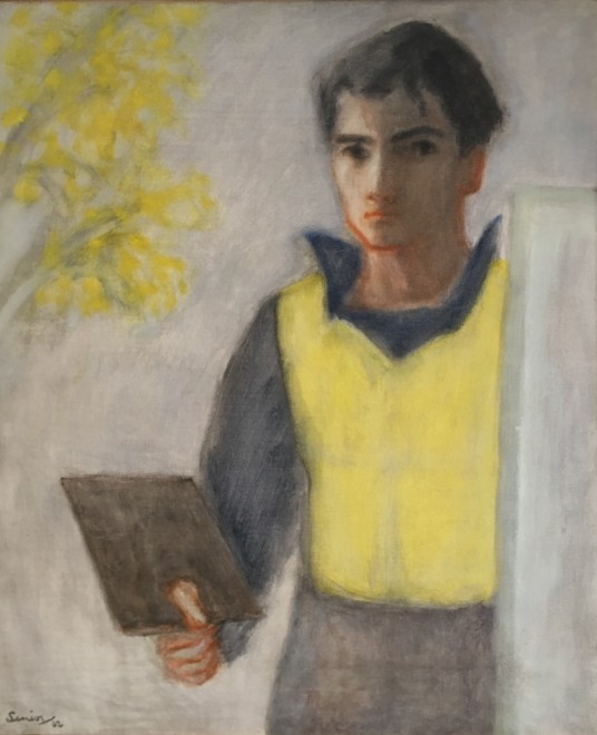 Bryan Senior, Self Portrait with Mimosa, 1962