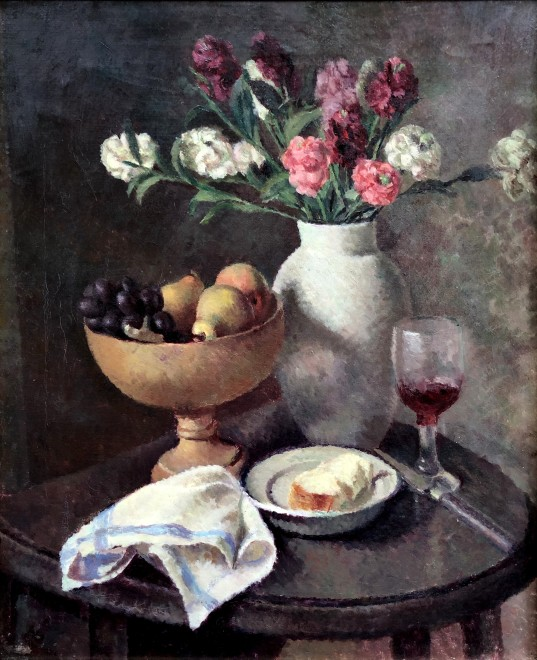 Dorothy Hepworth, Still Life of Pinks in Roger Fry's White Vase, c. 1930