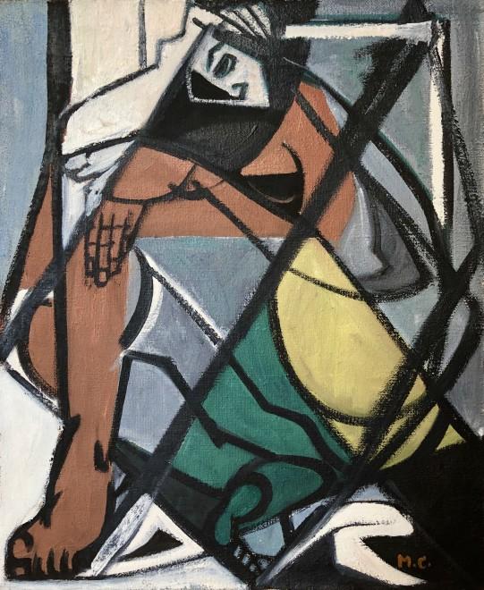 Marceau Constantin, Cubist Figure, 1950