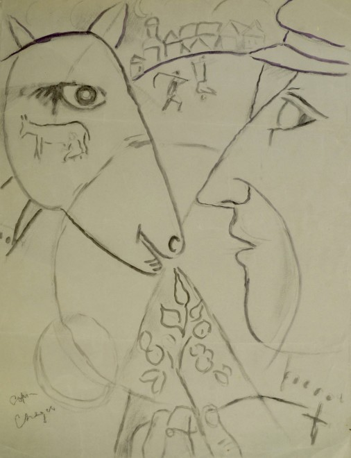 Marie Marevna, Study after Chagall's 'I and the Village', 1912-14
