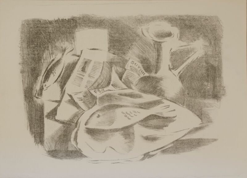 Kenneth Lauder, Fish Still Life, 1955  12 x 16 inches