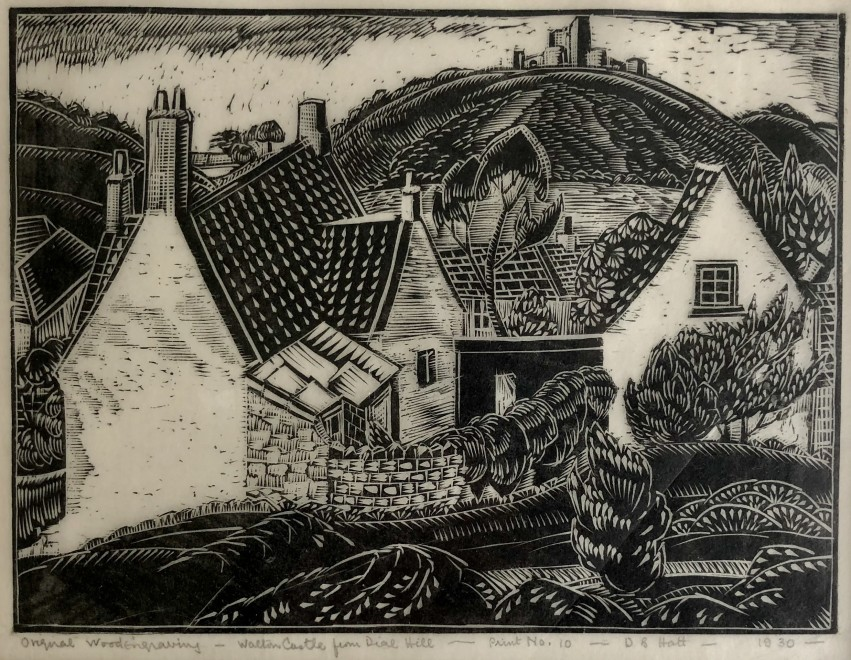 Doris Hatt, Walton Castle from Dial Hill, 1930