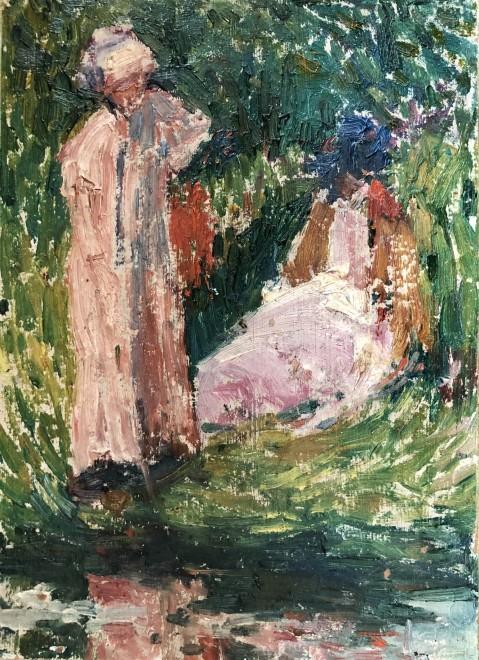 Hippolyte Petitjean, Deux femmes au bord de l'eau, c. 1912