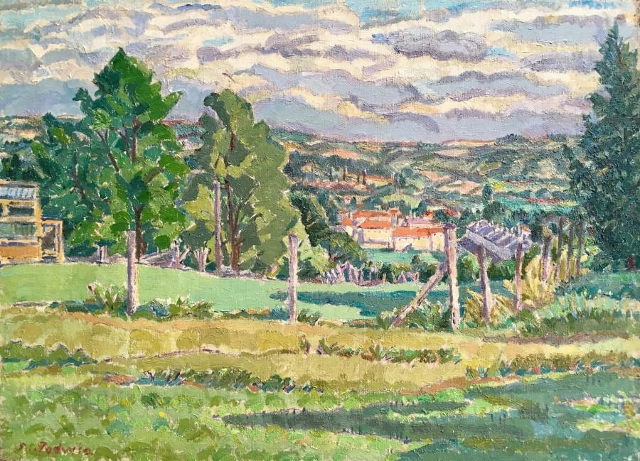 Mary Godwin, Somerset Landscape, c. 1930