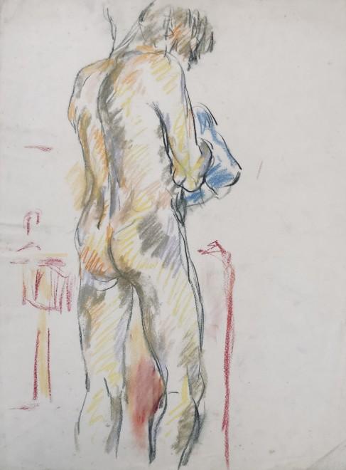 Glyn Morgan, Male Nude, Benton End, 1948