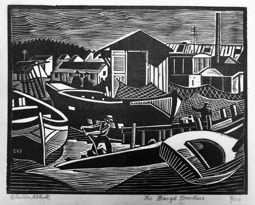 Ethelbert White, Barge Breakers, Bayonne, c. 1924