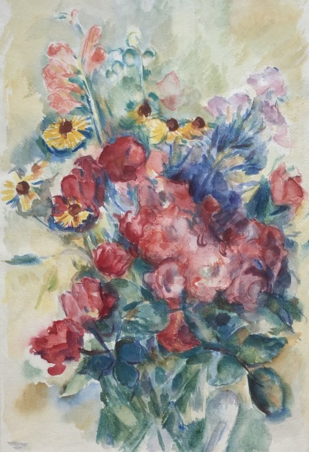 Kurt Badt, Flowers II  10 x 14 inches