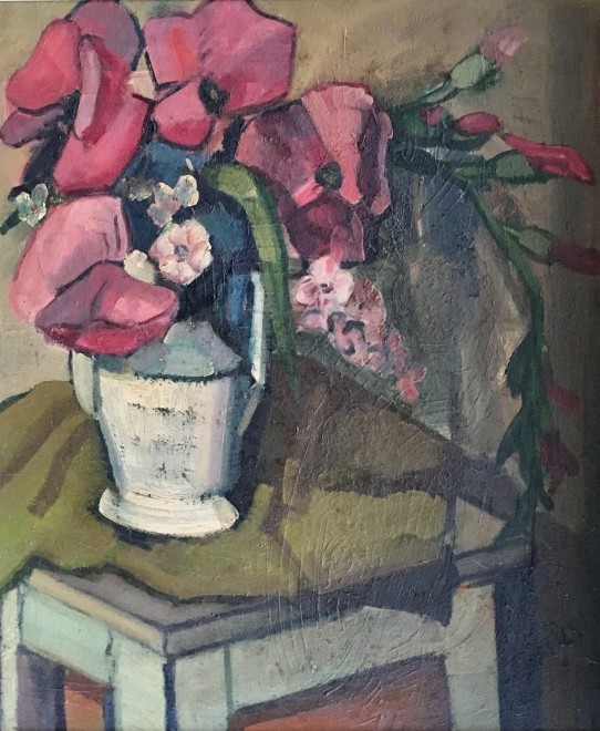 Henri Malançon, Still Life with Pink Poppies, c. 1930's