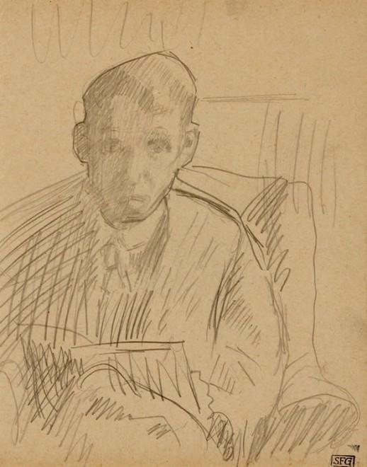 Spencer Gore, Self Portrait, 1913