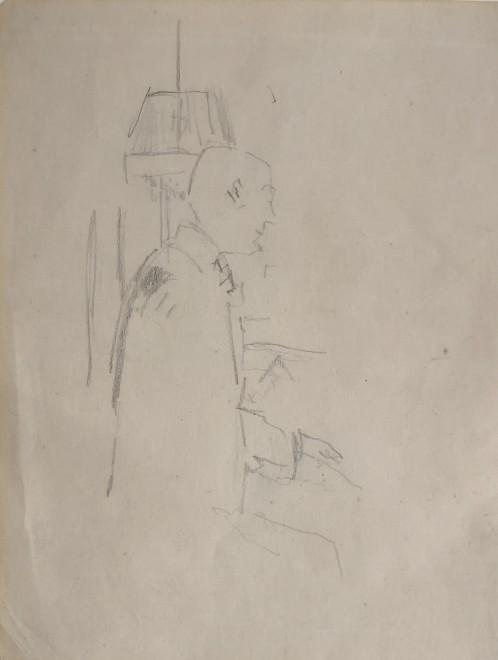 Walter Sickert, Rupert Lee Playing Bach, 1927