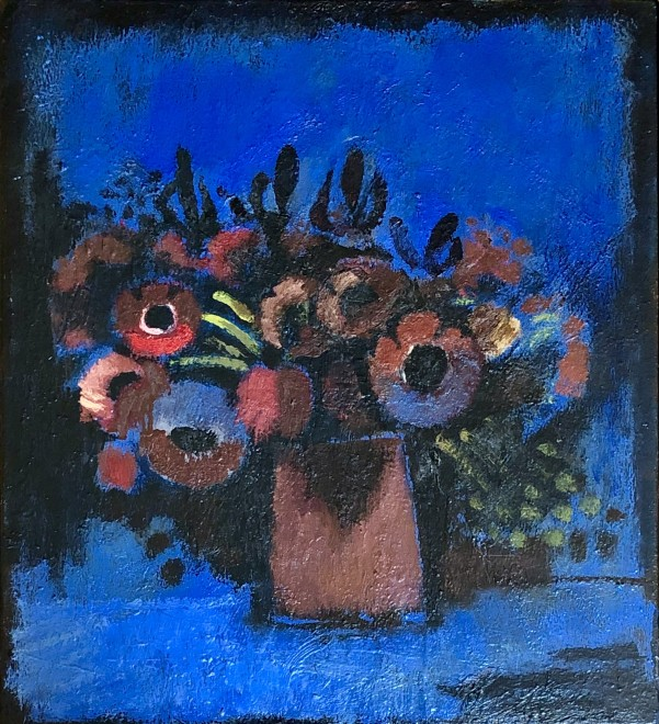 Josef Herman, Flowers, 1979