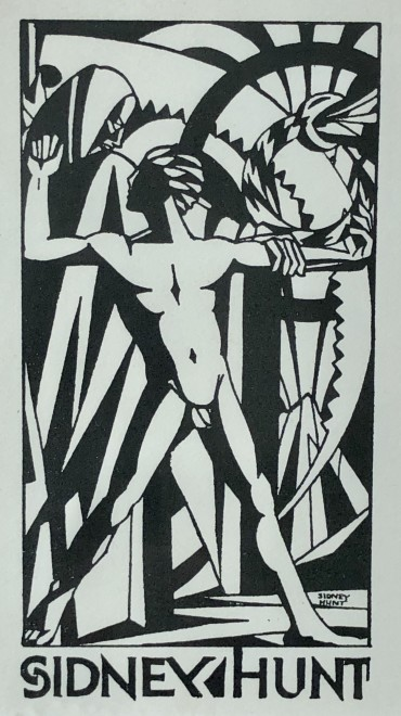Sidney Hunt, Bookplate Design, c. 1923